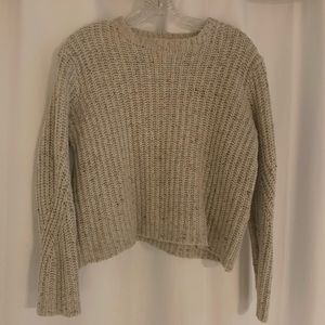 Oatmeal Crop Sweater